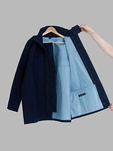 Keita Maruyama Homme dark navy woolen field jacket with bonded lining - M