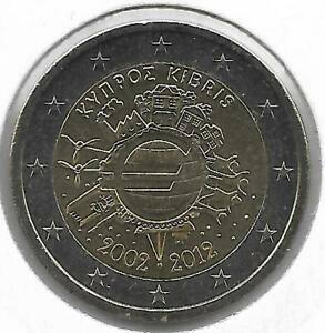 CHYPRE 2 Euro Commémorative 10 Ans de l'Euro 2012 UNC