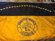 """Warren County New Jersey Large Flag 70""""x48"""""""