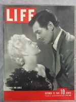 Life Magazine October 13 1941 Lana Turner & Clark Gable Cover w/ WW2 Print Ads