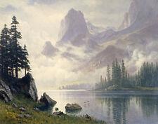 Bierstadt Albert Mountain Out Of The Mist Canvas 16 x 20  #5128