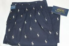 Polo Ralph Lauren Mens Navy Black 100% Cotton Woven Lounge Pants Size M/L/XL NWT