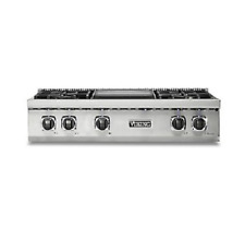 "Viking Professional Custom 36"" Gas Rangetop - New Model -Vrt5364Gss"