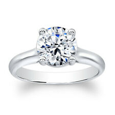 2.00 Ct Diamond Engagement Wedding Solitaire Ring 14K White Gold Round Size 6