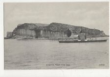 Staffa From The Sea Vintage Postcard  217a
