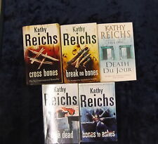 5 TENSE AND UNPUTDOWNABLE NOVELS BY KATHY REICHS **UK POST £3.25 **