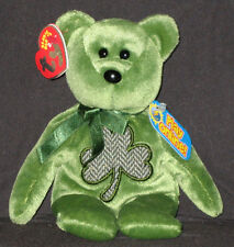 TY LUCKIER the IRISH BEAR - 2.0 BEANIE BABY - MINT with MINT TAG - UNUSED CODE