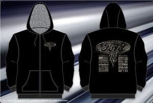 """Ford V8 Engines Sweatshirt Zip Black Hoodie Sherpa Lined Heavy Warm Mens """"SALE"""