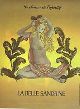 """PUBLICITE 1987  LA BELLE SANDRINE """" le charme de l'apéritif"""""""