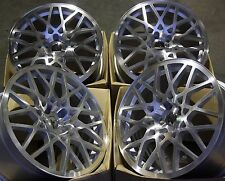 "18"" SILVER RT-I ALLOY WHEELS FITS AUDI A3 A4 A6 A8 Q3 Q5 TT 06> 5X112"