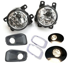 For Jeep Renegade 2015 2016 2017 Fog Lights Chrome Cover Grills Driving Lamp Kit