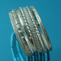 Solid 925 Sterling Silver 11 mm  Band Ring 7 Stacking Rings Various Sizes