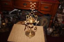 Vintage Middle Eastern Arabic Asian Candle Holder Incense Burner-Brass