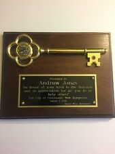 Andruw Jones Personally Owned Key To The City of Portsmouth, New Hampshire
