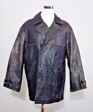 Andrew Marc Motorcycle Jacket Men's XL American Classic Faded Leather inv#z9920