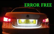 BMW E46 E60 E61 E90 E91 PURE WHITE ERROR FREE Number Plate LED Light Bulbs