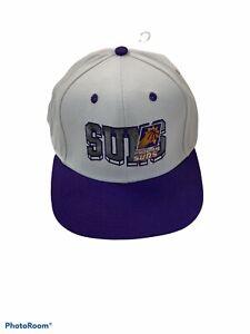 NEW NBA Phoenix Suns Adidas Hat SNAPBACK WHITE/PUEBLE ADJUSTABLE
