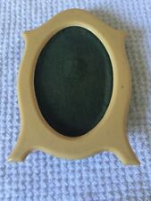 Vintage Plastic Celluloid Standing Picture Frame Oval Small Gift