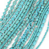 15'' Nature Blue Turquoise Gemstone Stone Beads Loose Spacer Charm Findings Sy