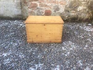 Rustic Victorian Pine Chest / Trunk / Box