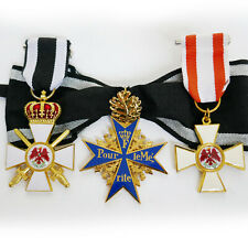 WW1 Award Medals Pour Le Merite & Order of the Red Eagle 24k Gold Plated Copy