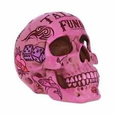 Pink Traditional Tribal Tattoo Fund Skull Money Box Pink Skull Ornament
