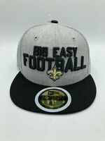 New Orleans Saints New Era BIG EASY FOOTBALL Fitted Hat Cap Mens 6 5/8 Gray NWT