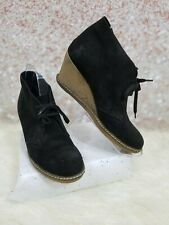 J Crew Women's MacAlister Black Suede Wedge Crepe Ankle Boots Size 9 M