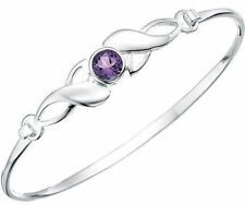 Bangle Amethyst Sterling Silver Fine Bracelets