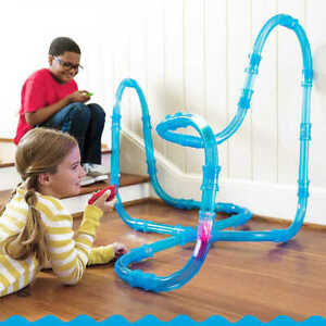 Tube Racer Deluxe Racing Track Car Set Kids Pack RC Toy Fast LED Car Hot Craze