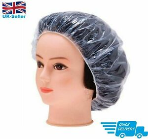 Disposable Shower Caps Hat Waterproof Clear Hair UK Seller Free Delivery