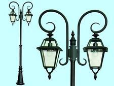 LAMPIONE PRAGA 2 LUCI SU PALO ILLUMINAZIONE ARREDO GIARDINO LAMPIONI H.MAX 263