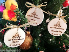 "New 3X Personalized 2017 Christmas/holiday Ornaments/Decors/keepsakes (2 1/2"")"