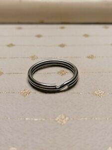 Anneaux porte clefs à ressort en inox diamètre 20mm par 50 pièces