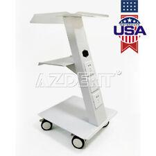 3shelf Built In Socket Medical Instrument Cart Dental Trolley Mobile Metal