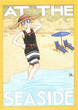 Mary Engelbreit-At The Seaside Beach-Blank Greeting Card/Envelope-New!