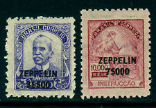 BRAZIL 1932 AIRMAIL - ZEPPELIN Surcharged set  Scott # C29-30  mint MNH