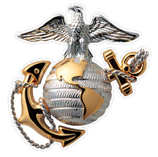 USMC Emblem (M64) Marine Corp Decal Sticker Car/Truck Laptop/Netbook Window
