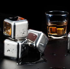 Stainless Steel Whisky Stones Reusable Ice Cubes Drink Chillers Cooling Rocks UK
