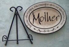 Caron Home Accents Heartnotes Mini Plates with Black Metal Stand--MOTHER NEW!