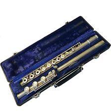 Nice Gemeinhardt 3SHB Open Hole Flute w/ Solid Silver Head Joint & Hard Case
