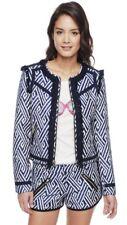 New - Juicy Couture Blue & White Tweed Jacket - Large (UK Size 14-16) RRP £250