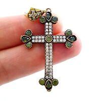 Turkish Handmade Jewelry 925 Sterling Silver Popular Holy Cross Pendant 1533