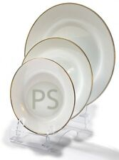 Triple Display Stand : 3 Piece Clear Acyrlic : Trio Plate, Bowl, Dinner or Side