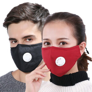 Washable PM2.5 Face Mask With Replaceable Filters Protective Reusable Unisex