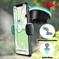2 in1 Universal Car Windshield Dash Suction Mount GPS Phone Holder 360° Rotating