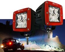 R 4D POD OZ-USA® Combo Flood Spot Phillips LED lights RED fog atv offroad 3x4