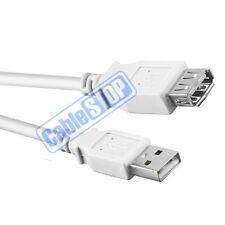 Brevi prolunga USB 60cm BIANCO MASCHIO PER PC PORTATILE STAMPANTE Donna Cavo 0.6m