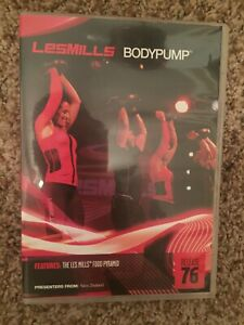 Les Mills BODYPUMP 76 DVD, CD, Notes body pump
