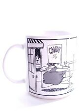 The Far Side 1982 Coffee Mug Cup  Lady and Candy Store Black & White Gary Larson